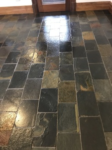 Sealers removed to bare stone and resealed to as new condition
