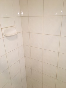 Ceramic tiles and grout cleaned, silicone replaced