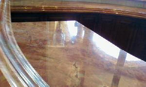 We were able to remove the stains and etch marks, hone and polish to full gloss