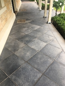 Limestone pavers looking dull and lifeless