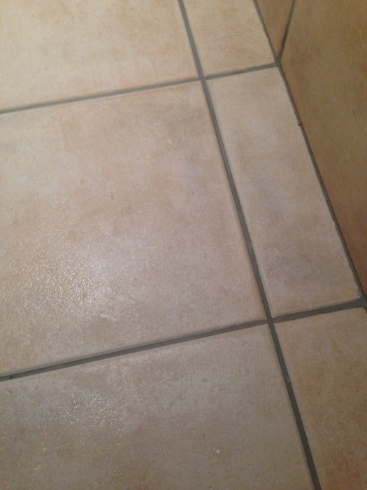 Ceramic tiles and grout restored to look new again