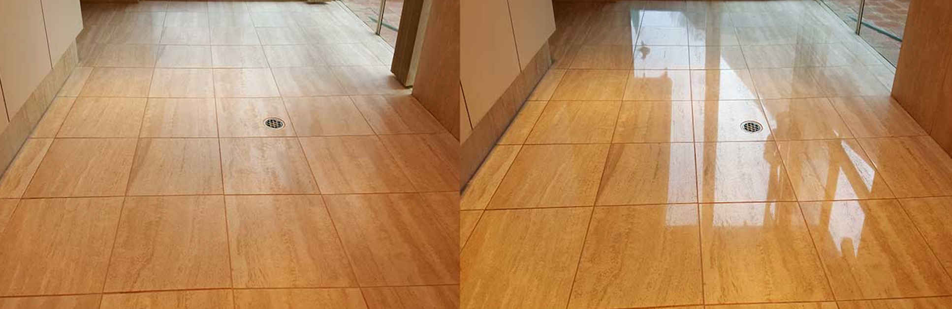 Compare before & after treatment by Best Marble & Tile Care