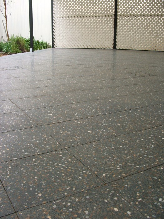 A newly installed paving area