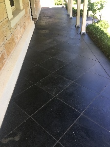 Limestone pavers cleaned and sealed